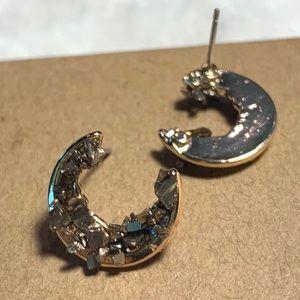 Jewelry - Crescent moon studs